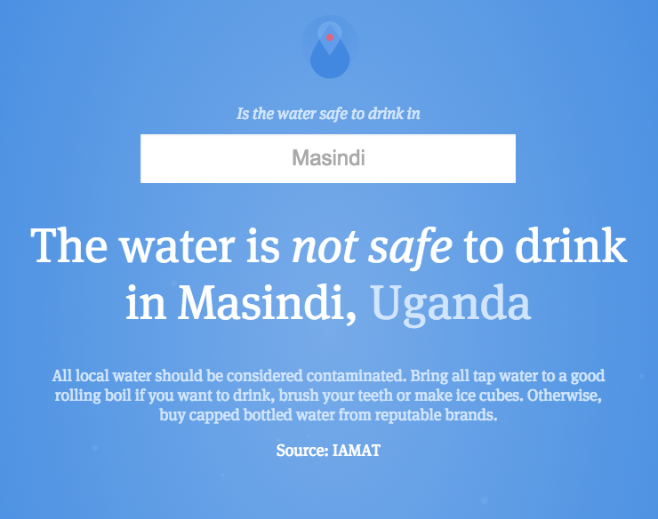 Is the water safe to drink?