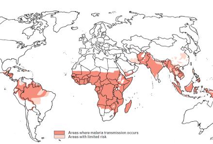 Malaria map 2015