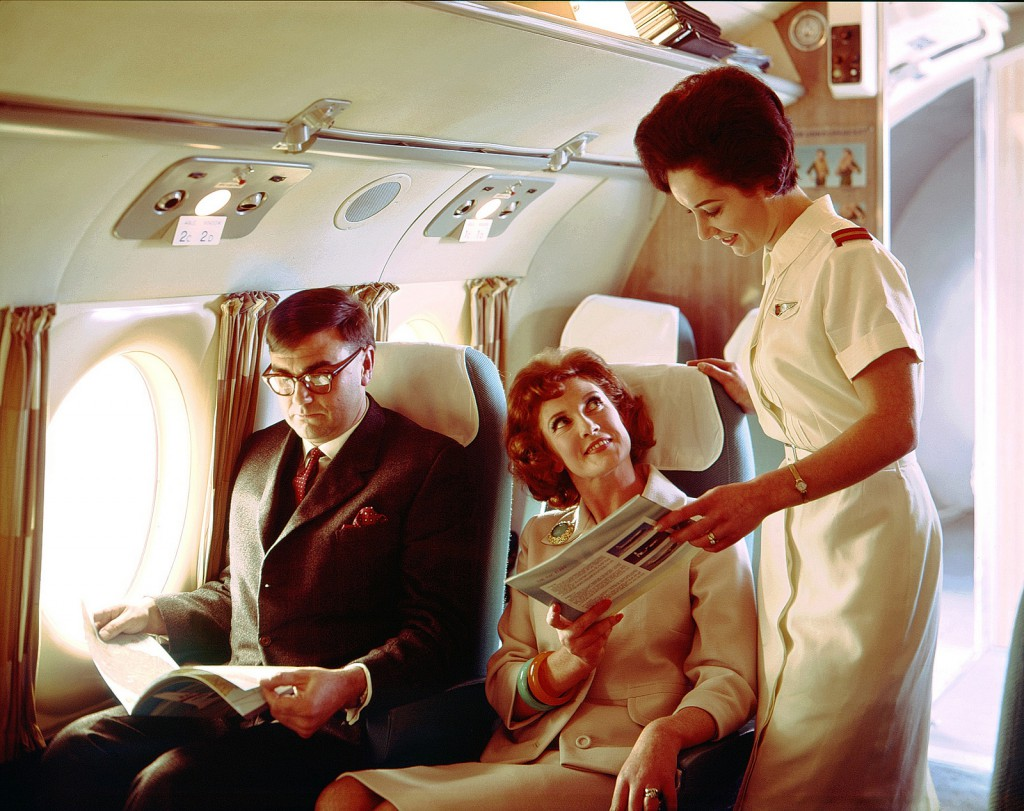 Archives New Zealand airline stewardess in 1959