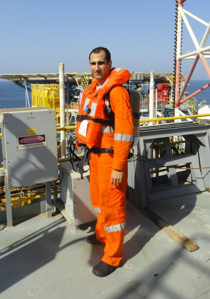 Ahmad working as an Offshore Emergency Doctor.