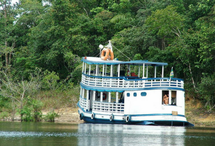 Boat on the Amazon River. Photo by Kepler Web, FreeImages.