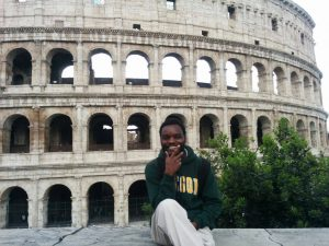Paul Yonga at the Colosseum